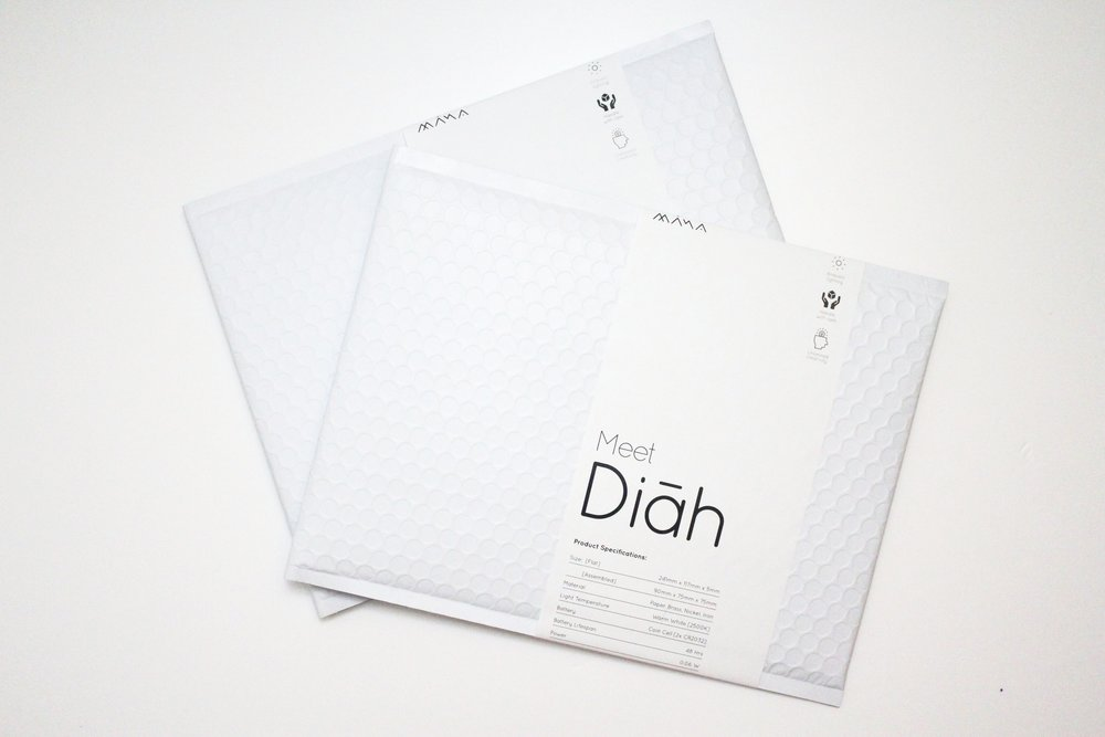 Diahs are carefully packed in envelopes