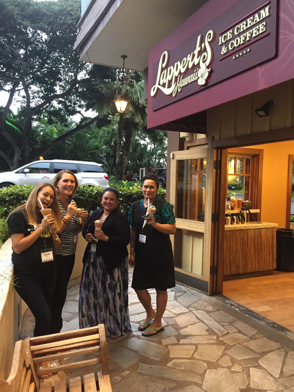 And you can't be at the Hilton Hawaiian Village and not walk across the street for some Lappert's, now can you?