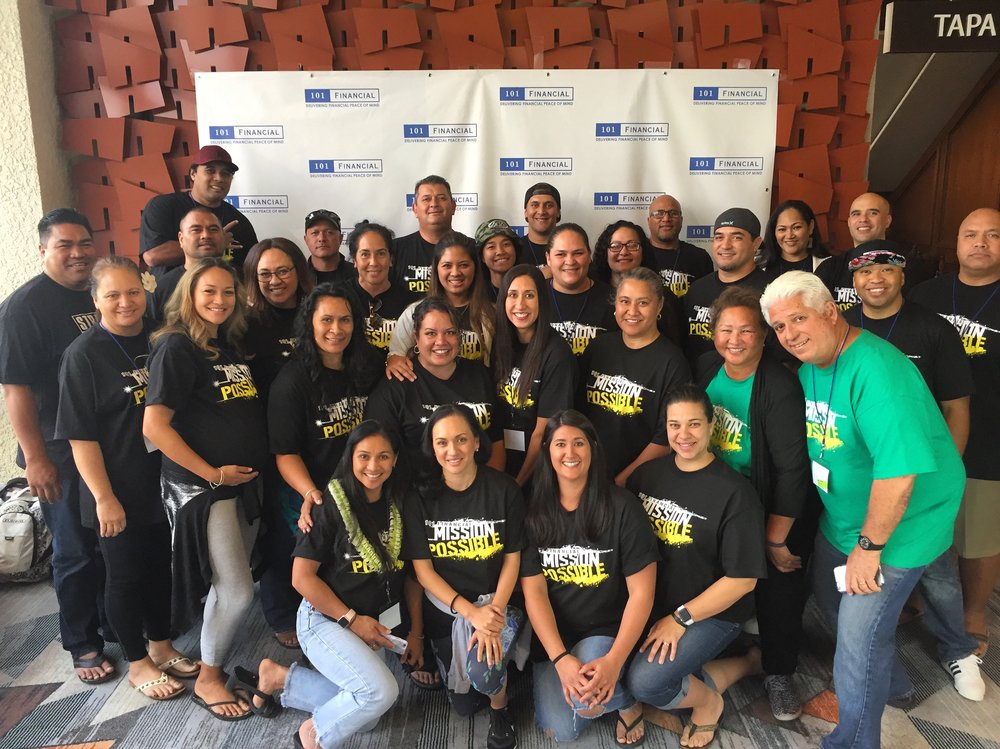"""Our North Shore Team sporting our """"Mission Possible"""" shirts."""