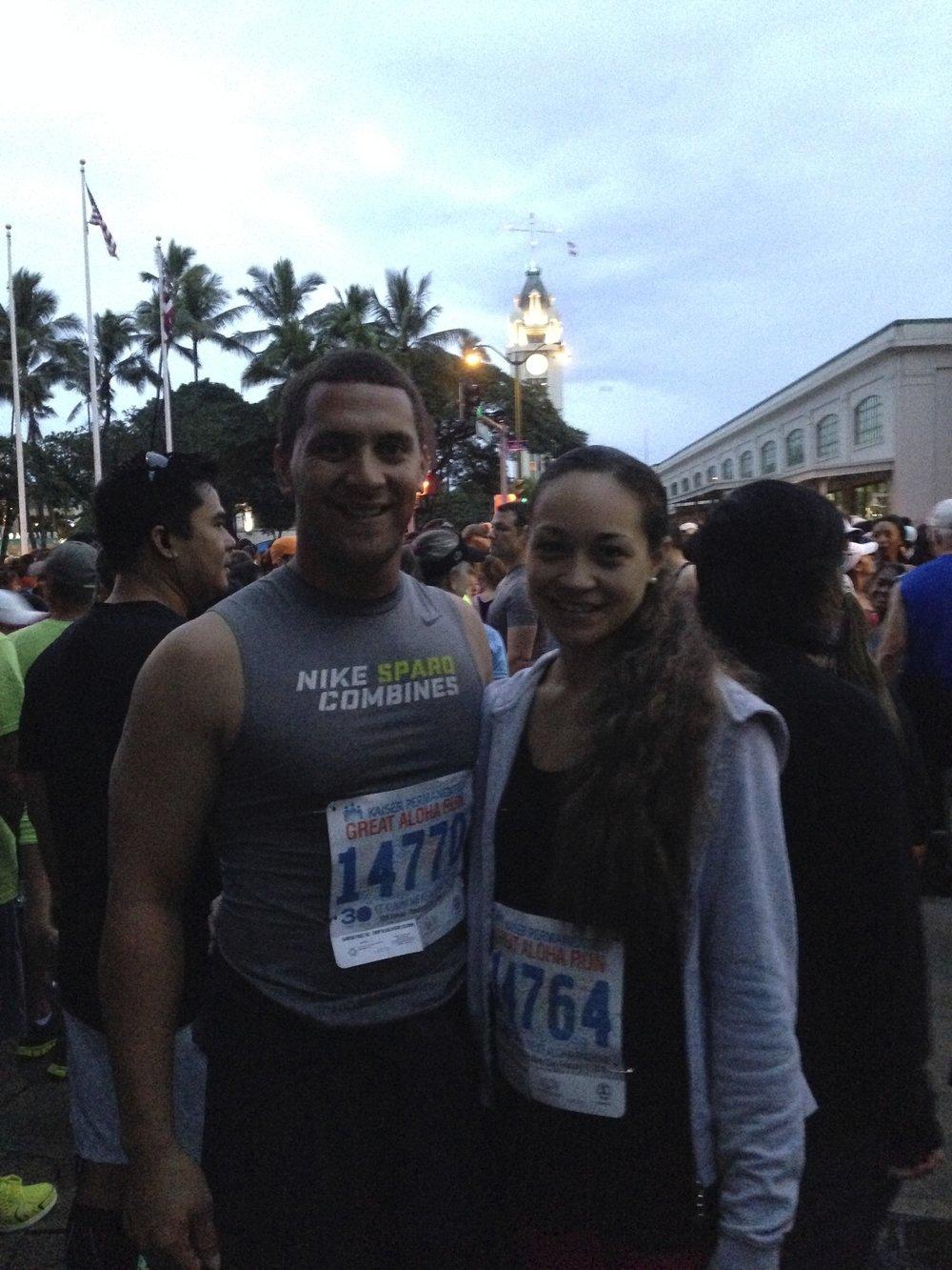 Before the run
