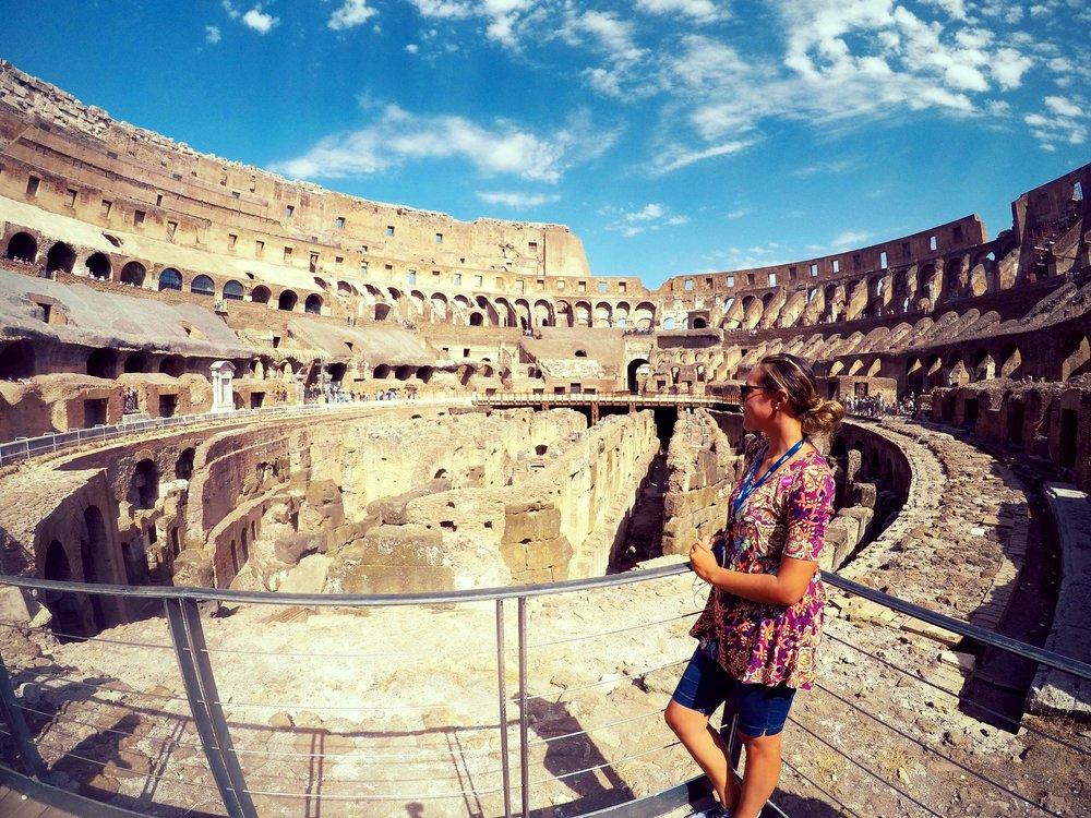 When in the Colosseum