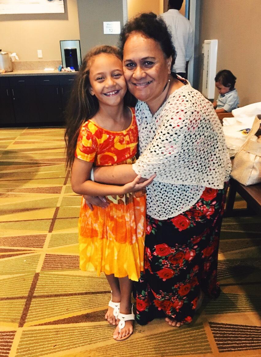Hinateata with Grandma Lucy
