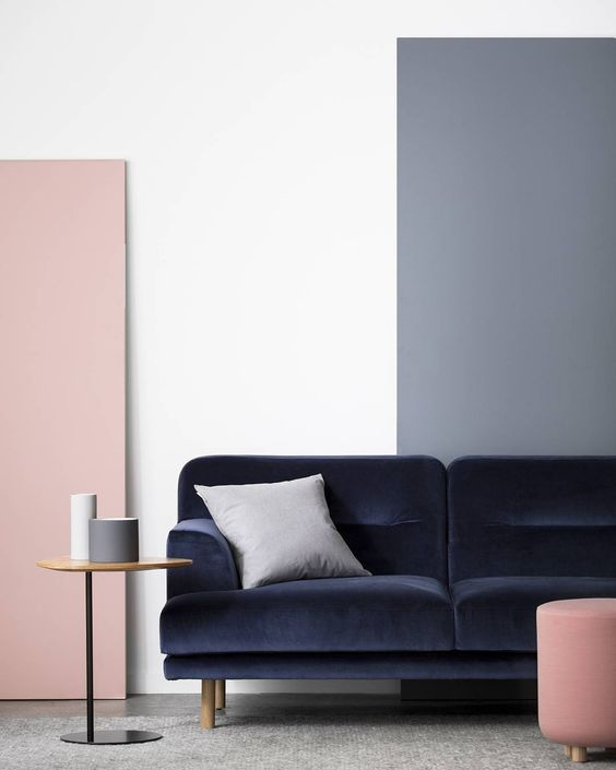 Styling perfection from Anaca Studio and Ruth Welsby of the new Camille sofa upholstered in Atelier velvet as featured in The Design Files recently Photography by Gem Mola.