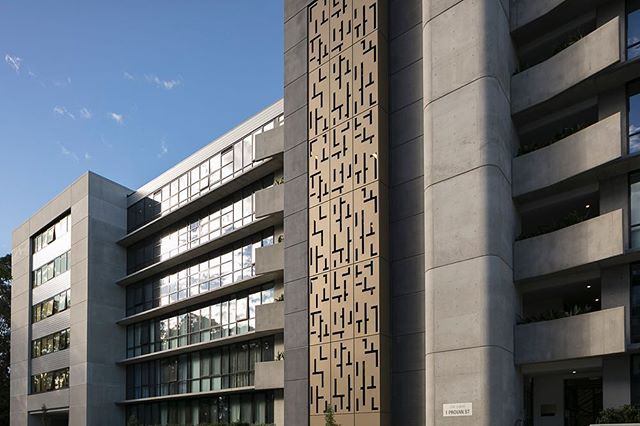 St Germain apartments, Campbell.  Metal facade by ProMetal.