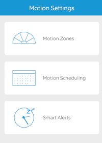 Ring App Motion Settings Screen
