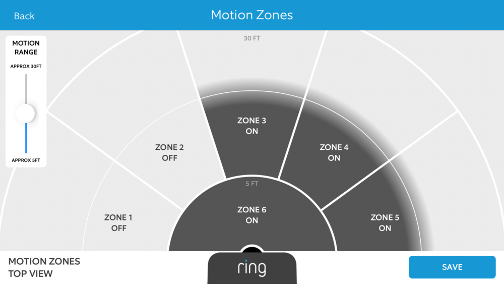 Ring Motion Zone configuration