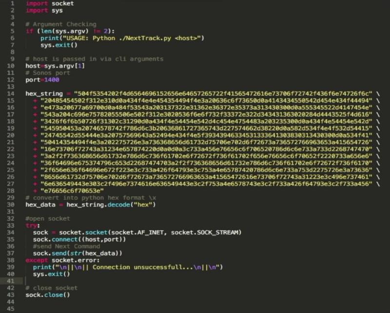 Trend Micro used a python script to send API commands