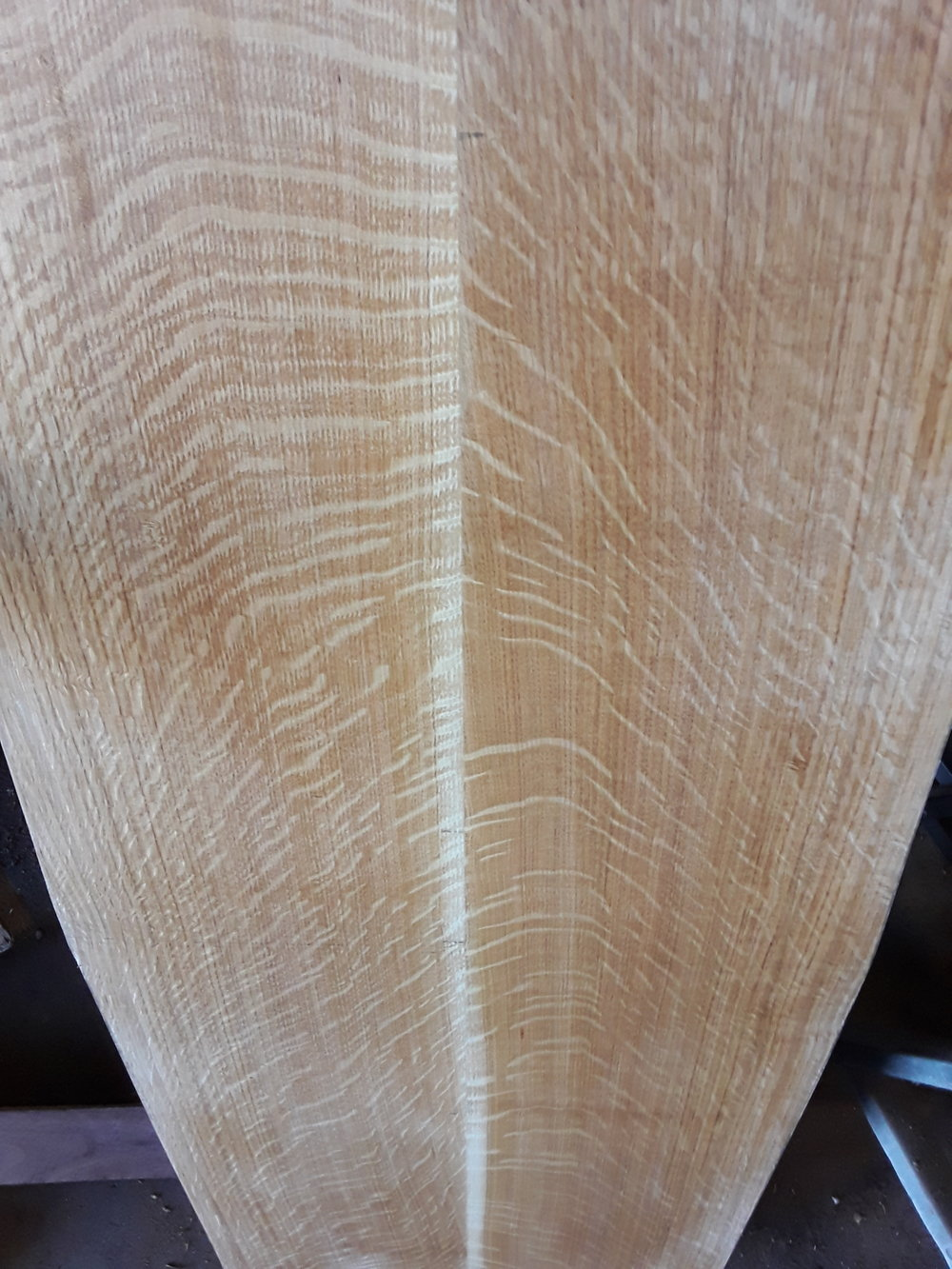 Quartersawn oak -