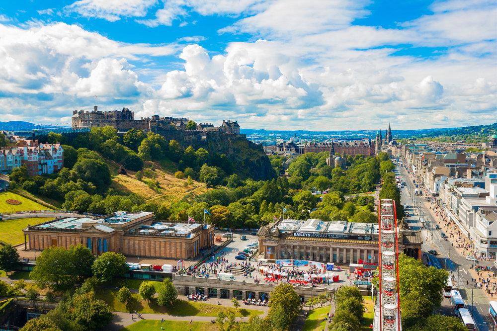 The Scottish National Galleries, Edinburgh Castle & Princes Street, Edinburgh.