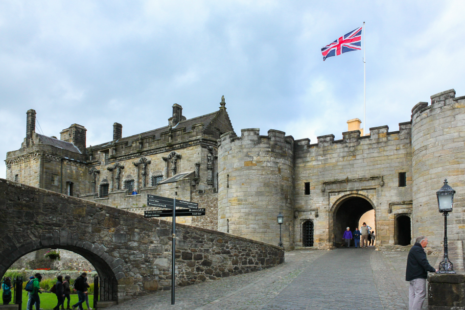 The Entrance to Stirling Castle, Scotland.