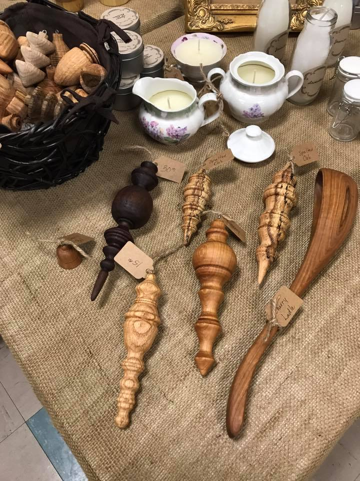 6.2.18This is just a sampling of the stunning hand turned ornaments and hand carved utensils made by The Crones House. A bowl of soup surely tastes better coming from that bea.jpg