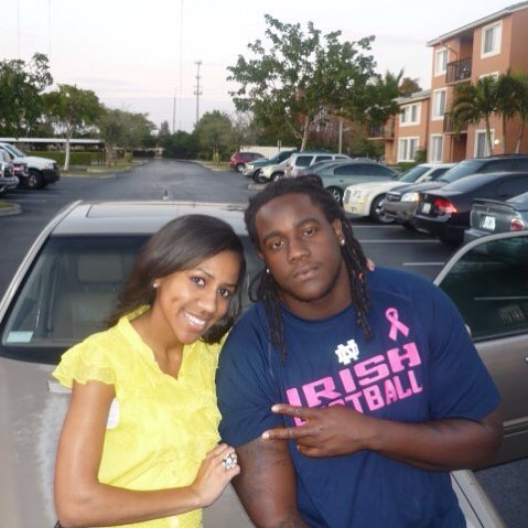 #fbf me and @saisoflyyy when she came to Miami don't remember the year..but by looking at my dread length I would say summer of 2010.. I stay repping #notredamefootball #notredame