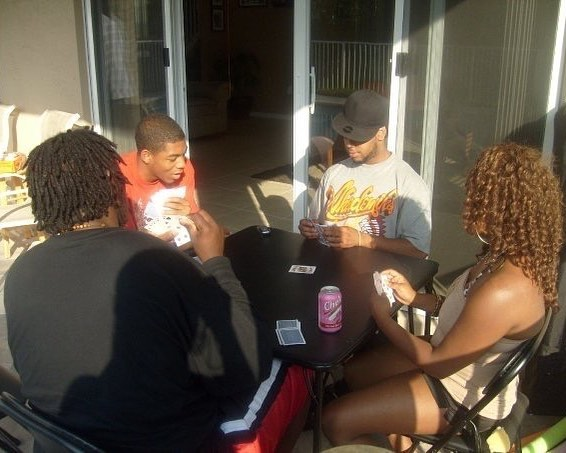 #tbt me @hemadehistory and the homie Ron ...anybody can get it when it comes to playing #spades  #memories back yard vibez
