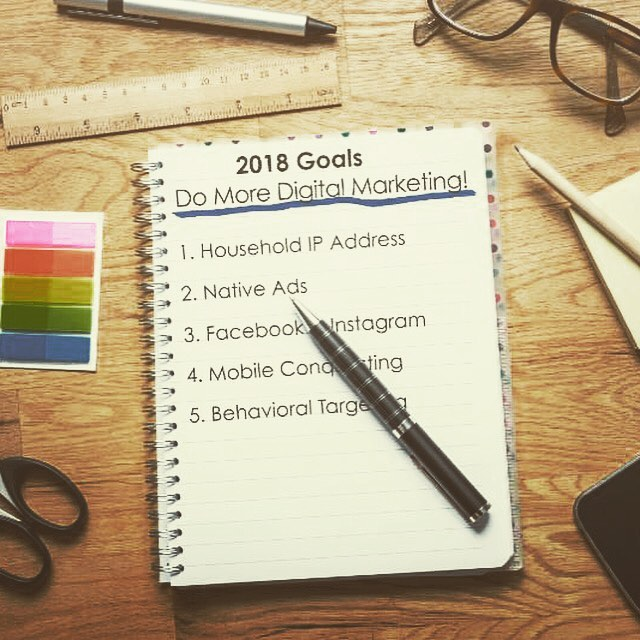 New Years Resolutions! #collegemarketing #digitalmarketing #collegeenrollment #mobileconquesting #householdip #nativeads