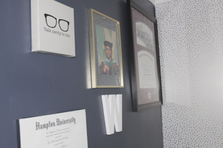 Husbands Degree wall
