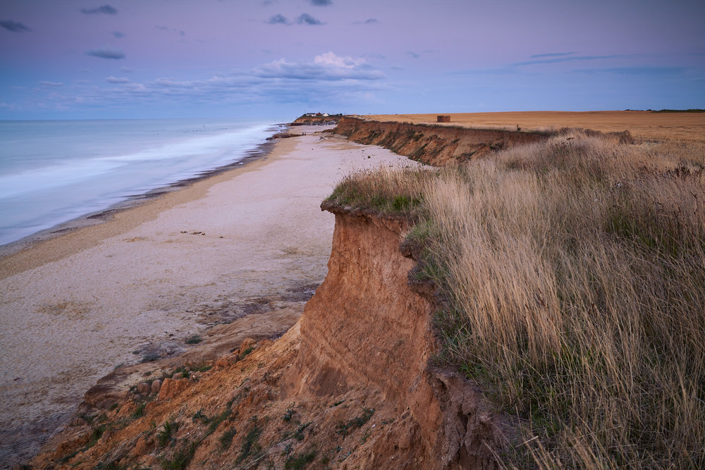 Happisburgh cliff erosion, Norfolk, England