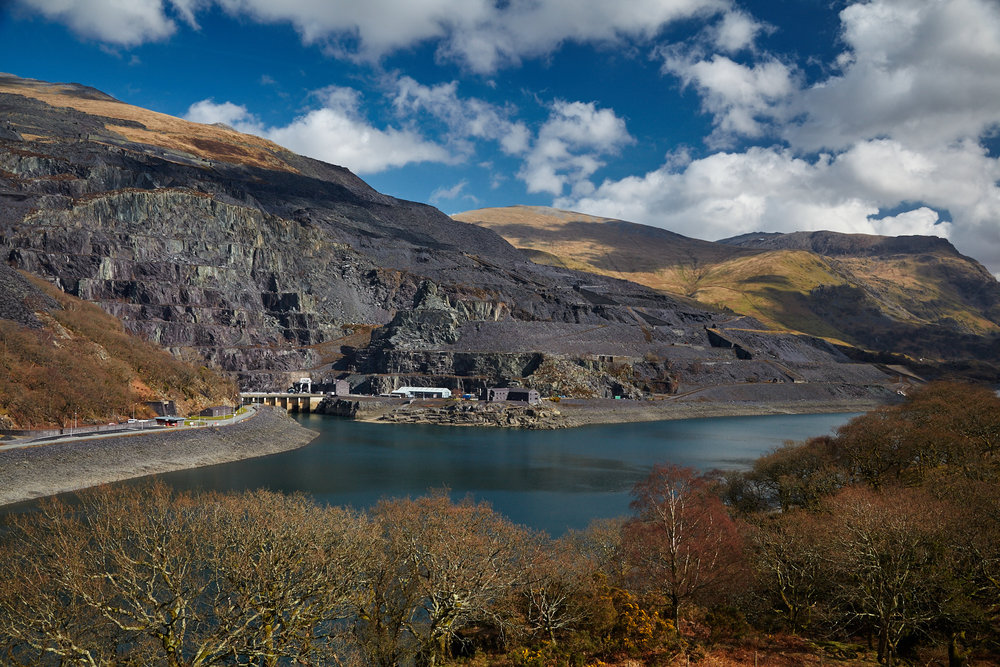 Dinorwig Power Station and Slate mines, Llanberis, Wales