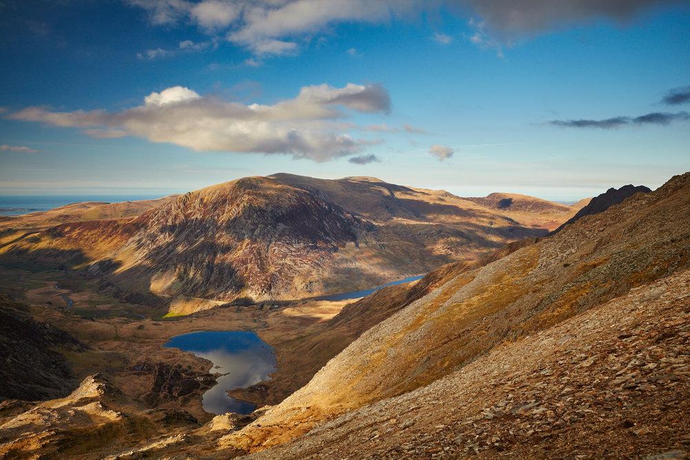 Llyn Idwal and Llyn Ogwen valley, Snowdonia, Wales