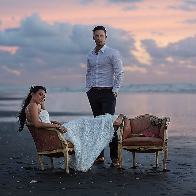 Mr & Mrs 🌹. Shot my friend Janeen's #wedding two days ago & she is the most beautiful (and chill) #bride. We ran down to the #beach to take the #bridal shots and smashed them out in less than half an hour. This girl is effortless 🌹🍾❤️ 🌹 Hair by @jbarakathair  Makeup by @melissawade_makeup 🌹 #weddings #bridalgown #fashioneditorial #sunset #dusk #purenewzealand #fashionbridal #oceanbeach #justmarried #bridalphotography #bridalhair #bridalwear #instadaily #love #beachwedding #bridaleditorial #coastalwedding #weddingphotography #bridalphotography #couturedress #lace #weddinginspo #newzealandnatural #bridalfashion