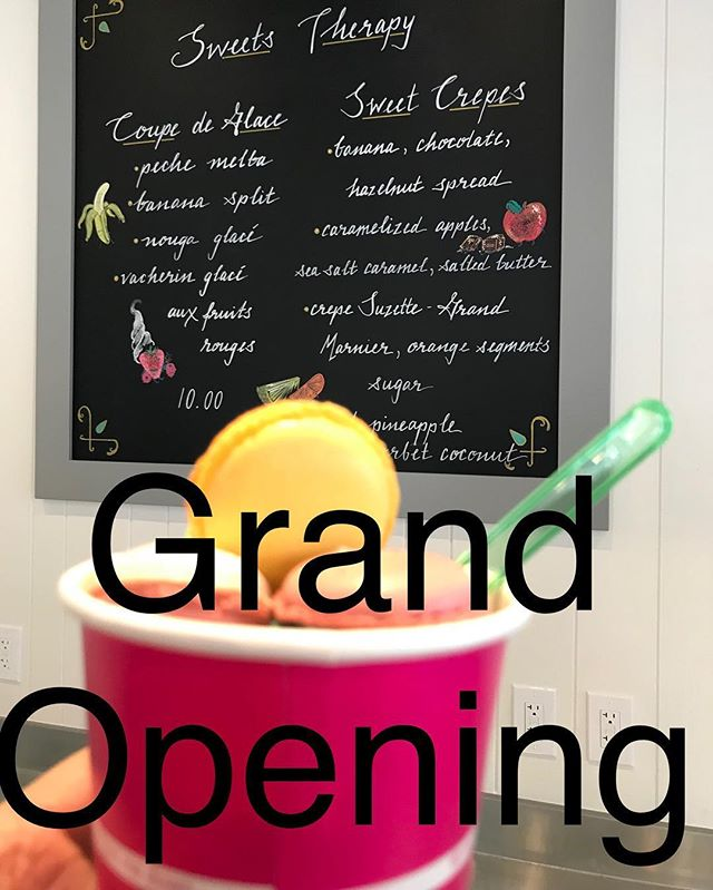 Grand Opening announcement!!! • We will have our grand opening of our expanded space on Saturday March 17th!! Saint Patrick's Day!! • • As mentioned earlier we will be open all day and offering a complimentary small coffee and petit pastry for everyone who stops by!! • • • #grandopening #ardmore #delicechocolat #frenchpastry #chocolate #foodie
