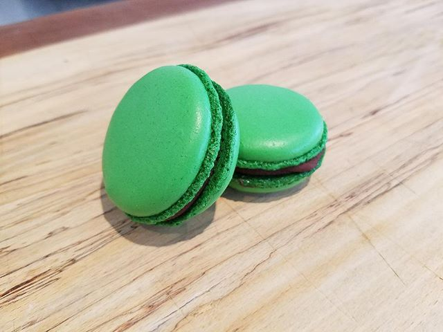 Grand Opening Announcement!!! We will be celebrating our grand opening this Saturday March 17th, Saint Patrick's Day with a number of special treats!!! • Pictured above is our Bailey's Irish cream and chocolate ganache macaron, a perfect way to celebrate Saint Patrick's day!! • • #stpatricksday #macarons #frenchies #pastry #baileys #ardmore