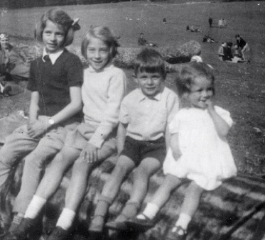 All four of us at Arundel, 1945.