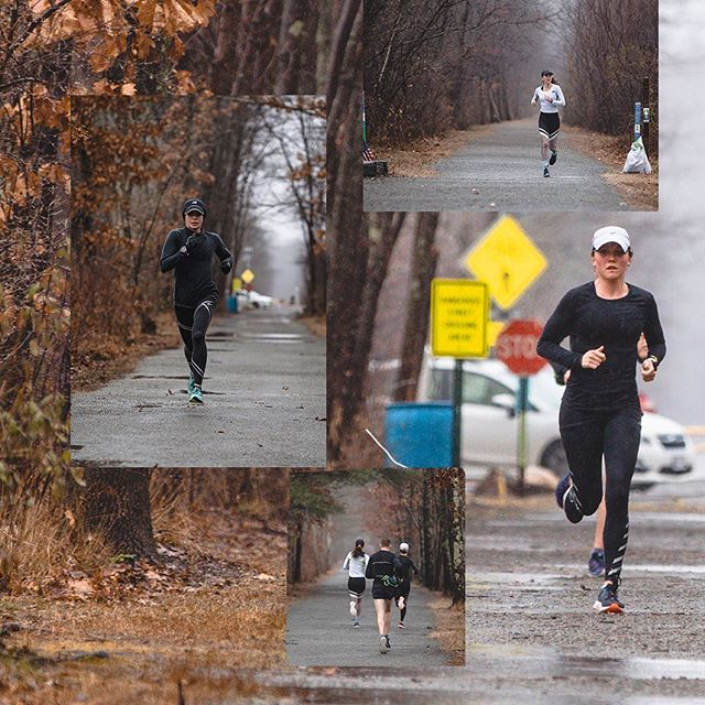 Yesterday's weather had us a bit soaked afterwards (actually 3 minutes in) but better than having these trails covered with ice in December. •  We got our long run done on the Border to Boston Trail (Danvers to Topsfield). It's one of the many trails that we're lucky to have in the Greater Boston area. (Swipe left) #FearlesslyIndependent #CoogsCrew #TeamNB