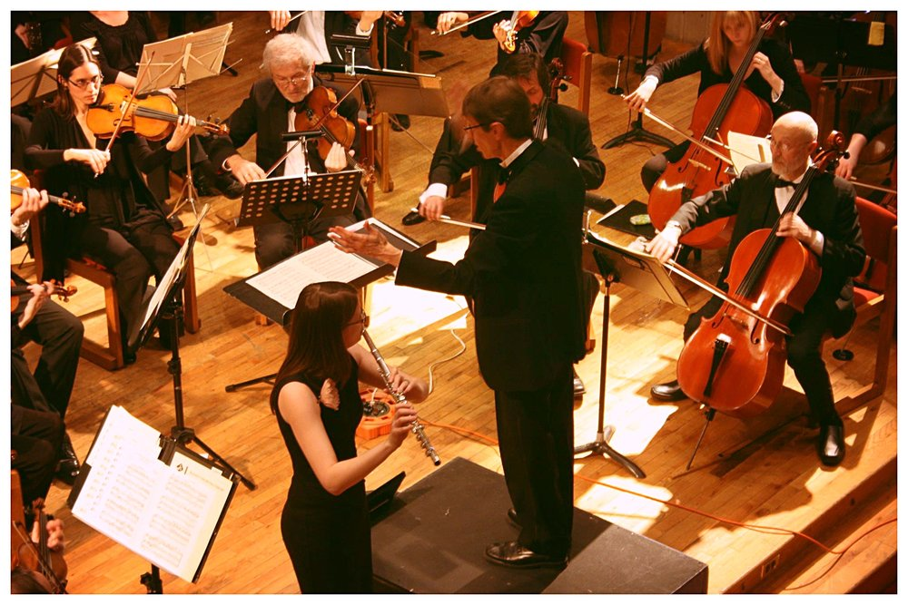 Sarah Faber in performance with the Chebucto Symphony Orchestra in 2012