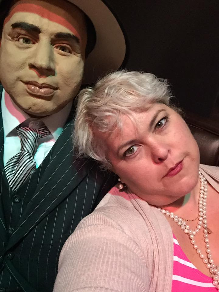 My new friend, Al Capone, at the Frazier Museum