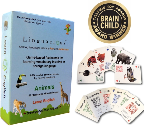 english animals flashcards audio linguacious