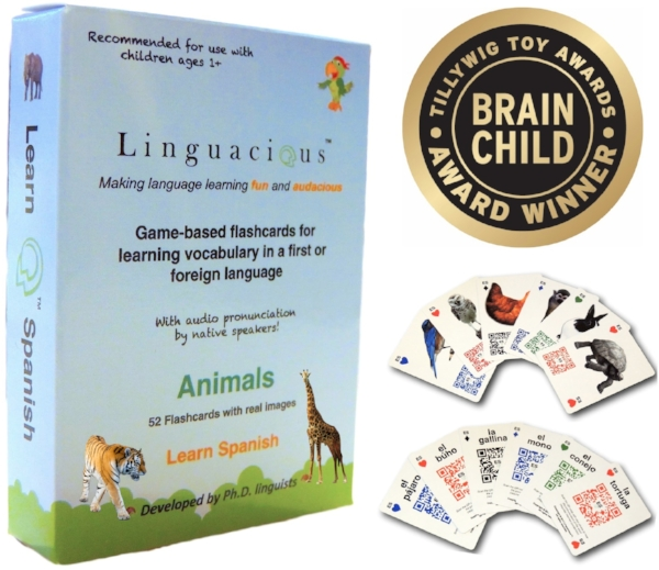 spanish animal flashcards audio linguacious games
