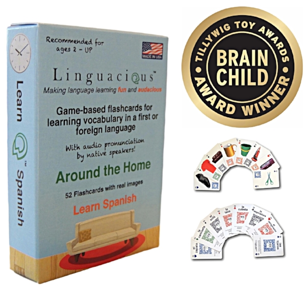 spanish home objects flashcards linguacious audio game