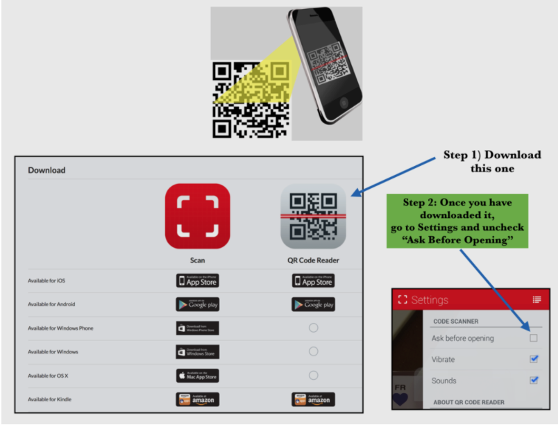 This is the only QR Code Reader we recommend.