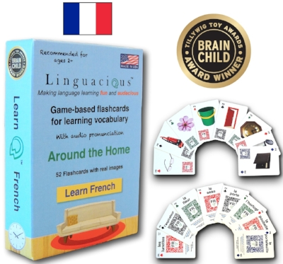 Linguacious™ Learn French - Around the Home vocabulary flashcard games