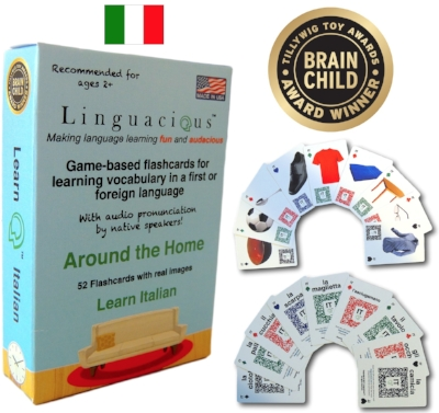 Linguacious™ Italian Around the Home vocabulary flashcard game