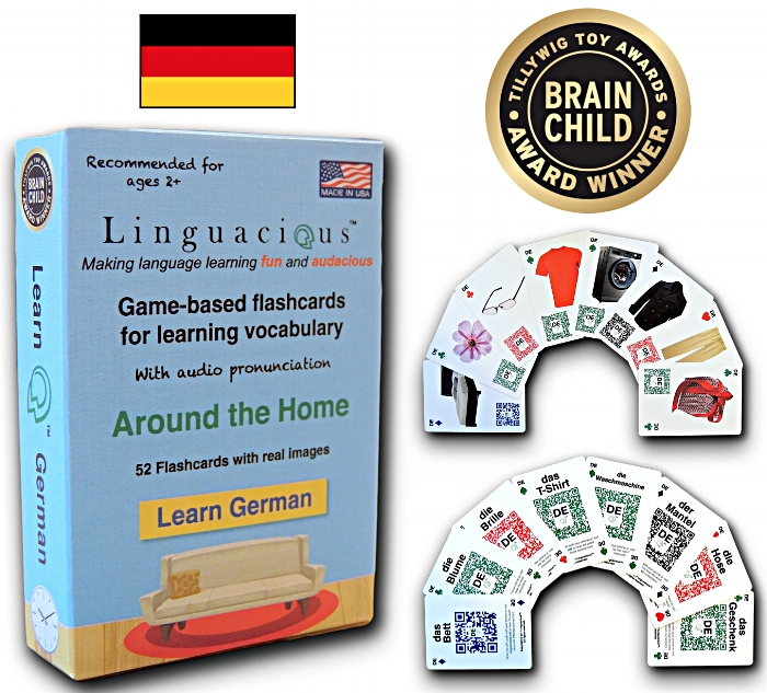 Linguacious® Learn German - Around the Home vocabulary flashcard games