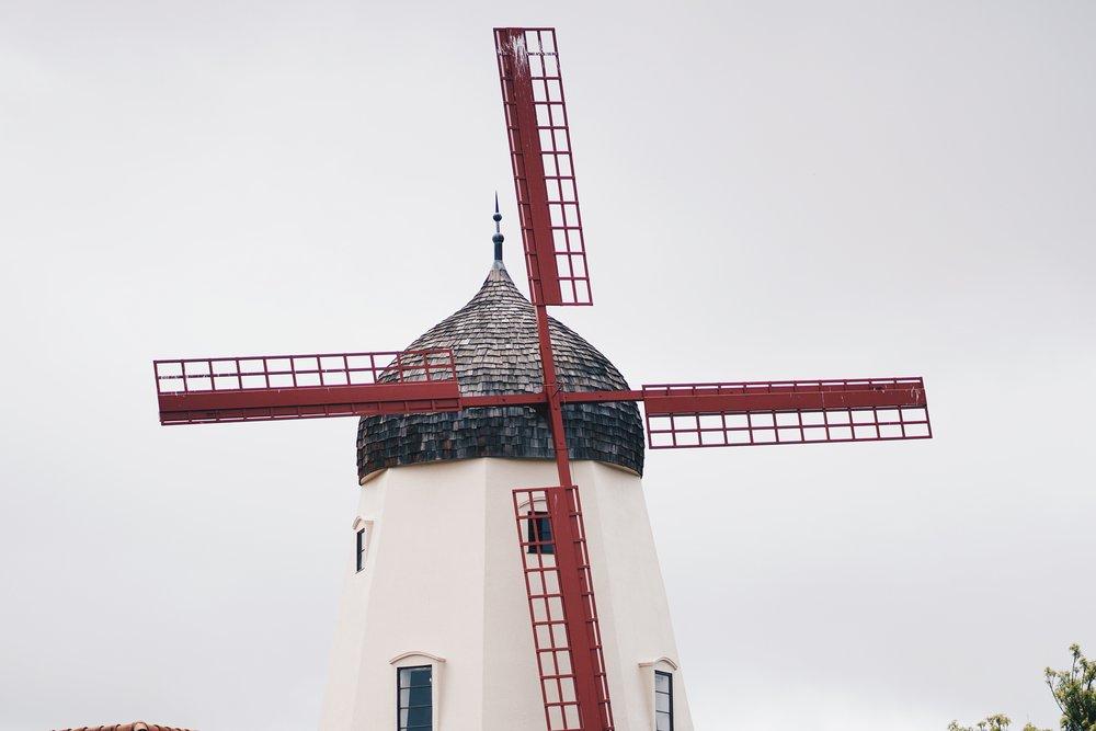 Windmills are plentiful in Solvang.