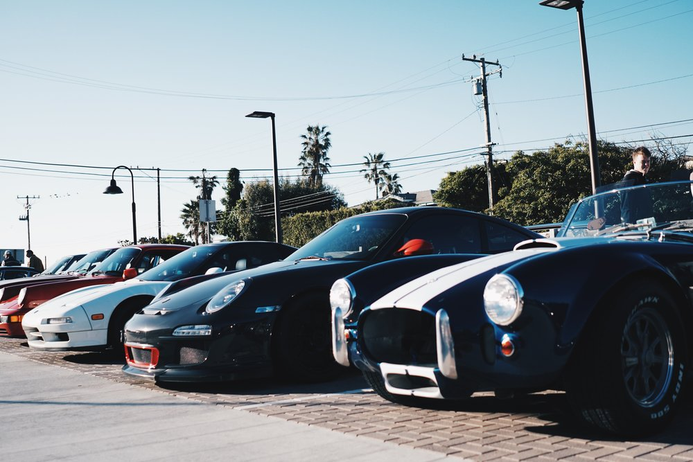 The best cars from Japan (Honda/Acura NSX), Germany (Porsche 911) and the US (Shelby Cobra).