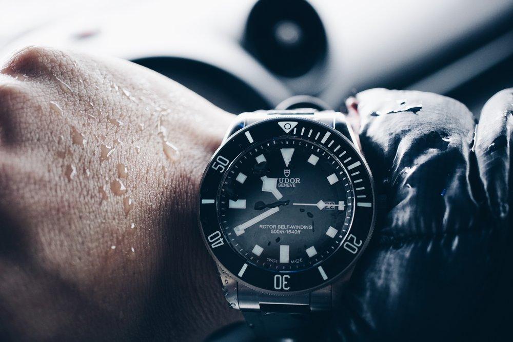 Tudor Pelagos on the wrist.