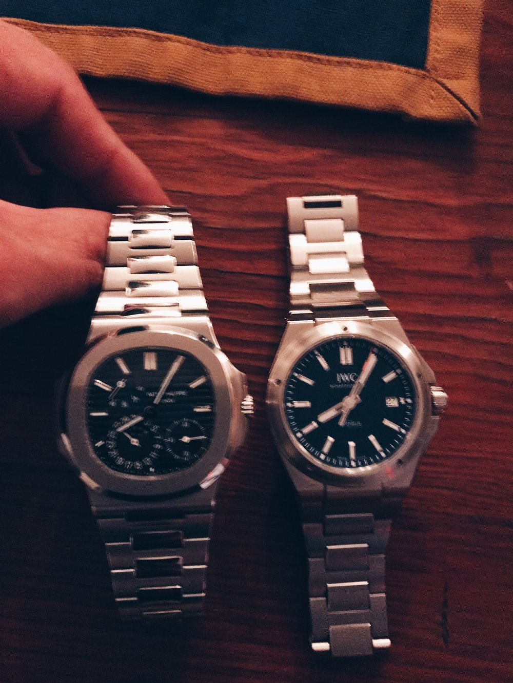 A good Genta watch (IWC Ingenieur) and a even better Genta watch (Patek Nautilus).