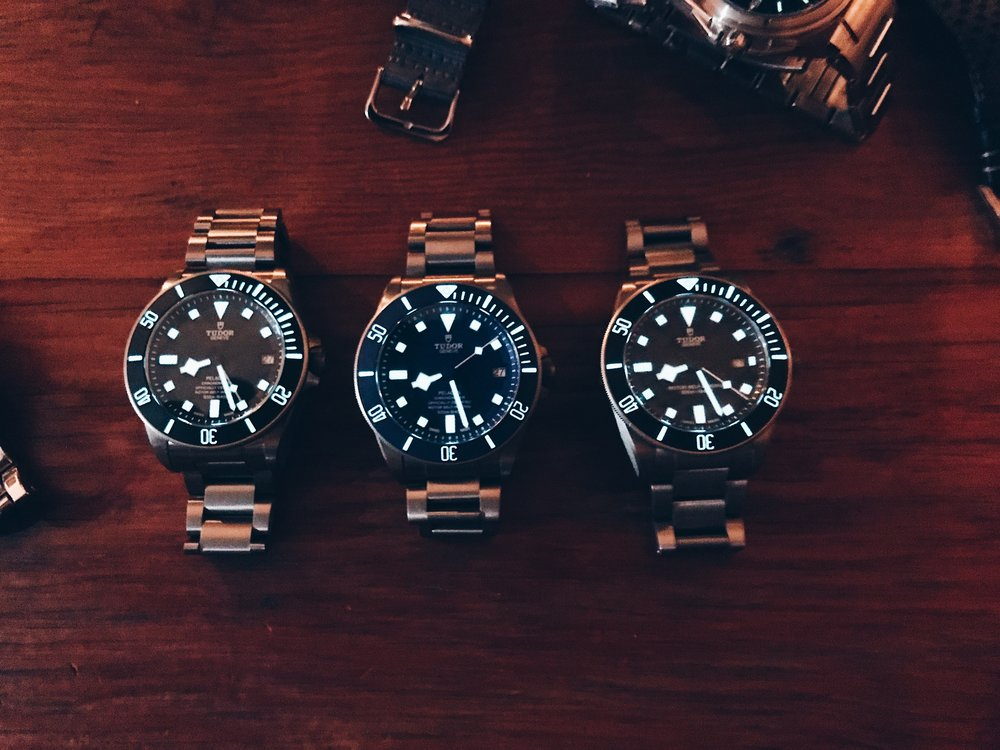 A trio of Tudor Pelagos lighting it up.