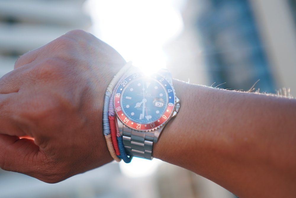 Rolex GMT-Master II ref 16710 during the eclipse.