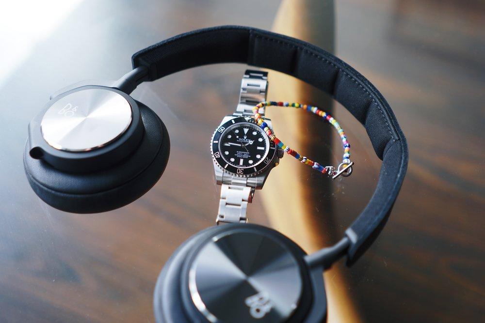 Rolex Submariner ref 114060 x B&O BeoPlay H6 x Oskar Gydell bracelet