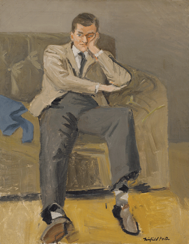 John Ashbery, by Fairfield Porter © The Estate of Fairfield Porter/Artists Rights Society (ARS), New York City. Courtesy Tibor de Nagy Gallery, New York City