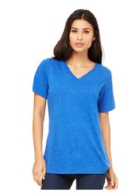Ladies Bella + Canvas T-Shirt  True Royal Triblend  $20