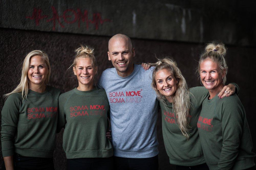 The Nordic SOMA team! Fra venstre Eva Katrine Thomsen, Cecilia Gustafsson, Linus Johansson, Silje Thorstensen og Helen Bergström. Foto: Sofia Kallner.