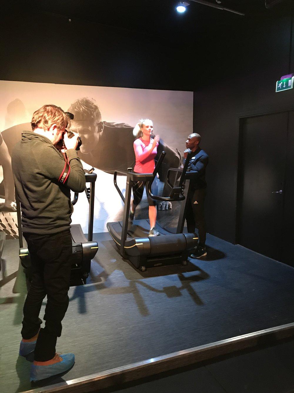 Fotograf Per-Åge Eriksen  «in action».