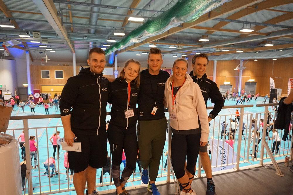 De beste Athletica-kollegaene! Fra venstre: Tobias Fjelde, Charlotte Nielsen, Trond Torke og Svein Olav Sturlason.