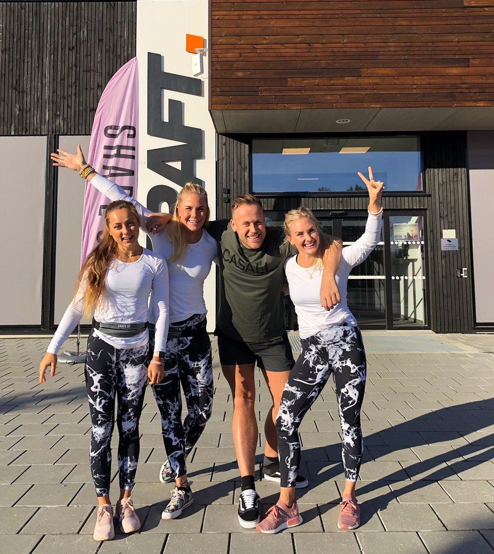 For en gjeng! Fra venstre: Hanna Sundquist, EK, Sølve Sundrehagen og Silje Thorstensen. Foto: privat.