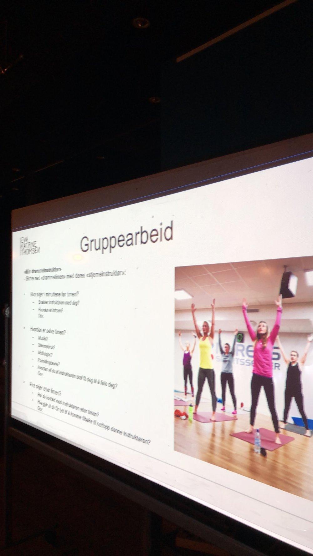 Fra workshop for gruppeinstruktørene ved Myrens Sportssenter.
